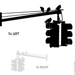 NYC : STICKER MURAL - Feu de signalisation new-yorkais. Suspendu comme dans les rues de New York